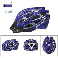 MAXTK Casco De Bicicleta De Motocicleta Hombres Y Mujeres Casco De Seguridad De Cuatro Piezas De Una Sola Pieza con Red De Insectos,Blue