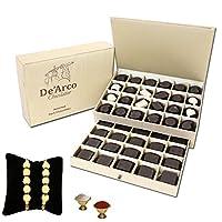 De'Arco Chocolatier Premium Luxurious Rakhi Gift Chocolate Box, Luxury Chocolate Gift Hamper for Brother, 44pcs + Free 2 Rakhi + Free Roli Chawal