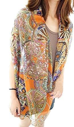 Demarkt® Fashion Foulard Echarpe - Chiffon Soie pour Femme/Fille - Beaucoup de Couleur disponibles (Orange)