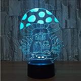 Dwthh Kreative Acryl 3D Bunte Usb Pilz Haus Nachtlicht Farbverläufe Cartoon Führte Schreibtisch Leuchtende Beleuchtung Schlafzimmer Dekor Leuchten