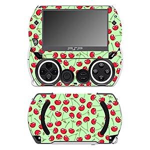 Disagu SF-14232_1078 Design Folie für Sony PSP Go – Motiv Kirschen grün transparent