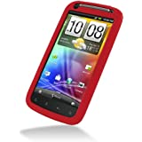 PDair Red Luxury Silicone Case for HTC Sensation 4G Z710e / HTC Sensation XE