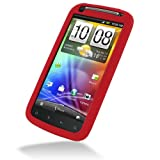 PDair Red Luxury Silicone Case for HTC Sensation