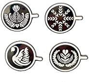 CAROMAY 4 PC Coffee Lapel Pins Set Enamel Pins Design of Coffee Boys Girls Brooches Cafes Friend Gift for Men