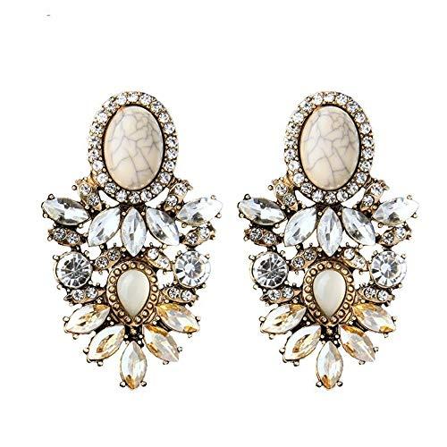 ZHWM Ohrringe Ohrstecker Ohrhänger Legierung Retro Modeschmuck Online-Shop Neue Maxi Bib Anweisung Ohrringe Für Frauen Mädchen Geschenk Zubehör