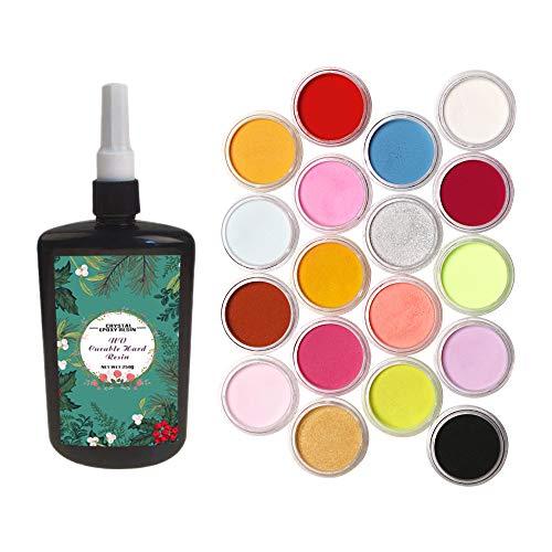 250 ML Kristall Epoxidharz UV Kleber Epoxy Harz Farbe Pigment Für DIY Home Professionelle Handwerk Schmuck Ohrringe Halskette Armband Nail art Zubehör -