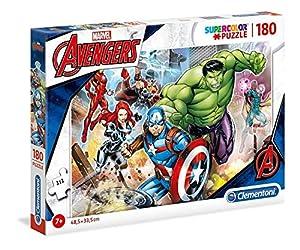 Clementoni Supercolor Puzzle-The avengers-180Unidades, Multicolor, 29295