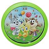 alles-meine.de GmbH Wanduhr -  Baby Looney Tunes  - 29 cm groß Uhr - für Kinderzimmer Kinderuhr - Analog Jungen Mädchen Kinder - Tweety Taz Bugs Bunny - Kinderzimmeruhr / Lernuhr