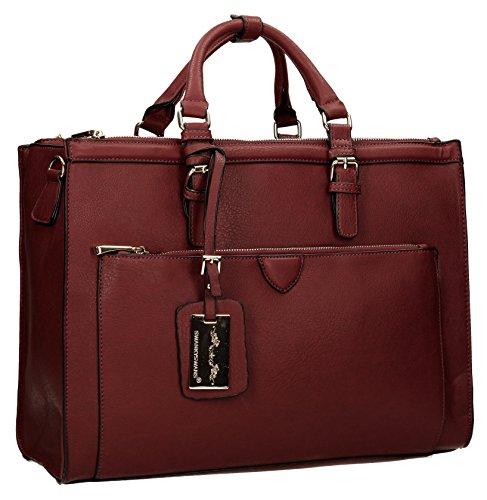 SwankySwans - borsa  da donna, rosso(warm burgundy), Talla única