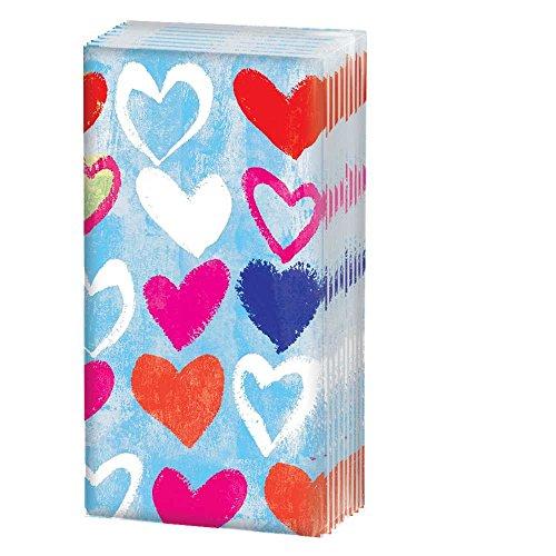 Sniff Paper Hearts Taschentuch, Papiertaschentücher, 10 Stück, Tissue, Bunt, 51589 -