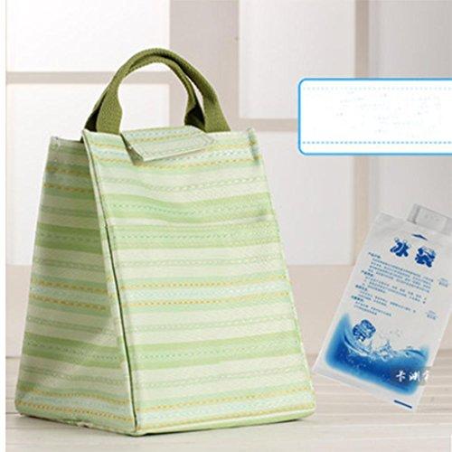 Verdickt Apple (MOXIN Isolierung Taschen - Oxford Tuch Eisbeutel Lunchbox mit frischer Aluminiumfolie , yoyo apple green (ice pack))