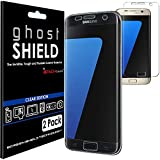 TECHGEAR® [2 Pack] Protection Écran pour Galaxy S7 Edge [ghostSHIELD] Film de Protection Souple en TPU avec Protection Totale de l'Écran Compatible pour Samsung Galaxy S7 Edge (Séries SM-G935)
