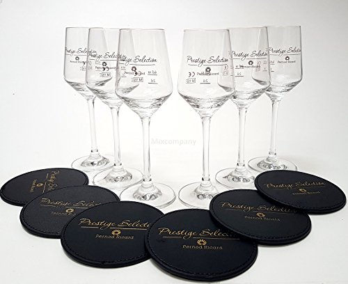 pernod-ricard-glaserset-6x-prestige-selection-kelch-glaser-2-4cl-geeicht-6x-leder-untersetzer