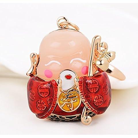 Coche de estilo chino colgante llavero lucky Fortune ornamentos bolsa