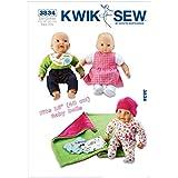 Kwik Sew Patron de Couture Artisanat 3834–Vêtements pour poupée (O/S)