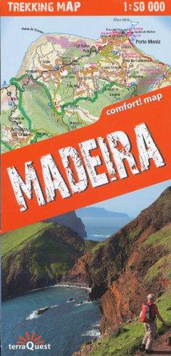 Madère 1:50,000 Trekking Carte, Terraquest par TerraQuest Editions