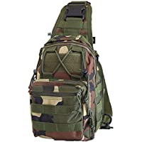 mStick Camouflage Sling Chest Day Pack Hiking Shoulder Messenger Bag DSLR Pouch Outdoor Sports Army Chest Bag Trekkin