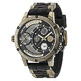 Police Herren Multi Zifferblatt Quarz Uhr mit Silikon Armband 14536JSQG/AM