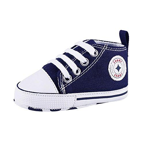 Itaar Prewalker Babyschuhe, Segeltuch, Sneaker, rutschfest, weich, 3-18 Monate