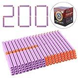 Lommer 200 Stück Nachfüllpack Refill Darts Schaum Pfeile Bullets für Nerf Modulus, Retaliator, Rebelle Serie