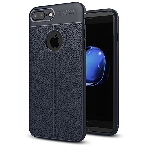 "Apple iPhone 8 Plus (5.5"") Hülle, MSVII® Anti-Shock Weich TPU Silikon Hülle Schutzhülle Case Und Displayschutzfolie für Apple iPhone 8 Plus (5.5"") - Blau JY90123 Blau"