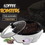 OOFAT Kaffeemaschinen, Kaffeeröster, Haushalt Edelstahl Elektrische Trommeltyp Rotation Kaffeeröster, Für Haushalt Küche
