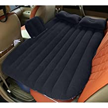 Portable Travel Camping Inflatable Air Mattress With Pillow Fits Most Car Models For Camping Travel And Car, Flitaing bed, Floating Bed with Two Air Pillows(Black)
