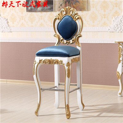 LZL bar stool chair European style solid wood negotiation, Princess chair, Club Hotel KTV, new classical leisure reception, image sofa,3 gold
