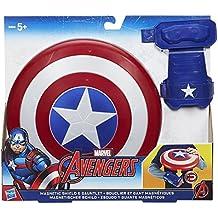 The Avengers Avengers B9944EU40- Scudo magnetico da Capitan America (Marvel), con guanto