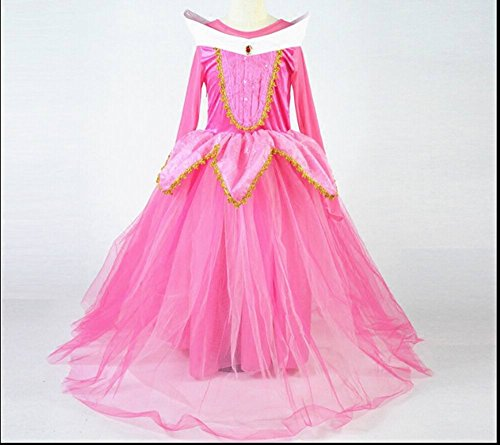Costume da principessa Aurora, de Ls Bella Addormentata, per festa tra ragazze, abito per bambina