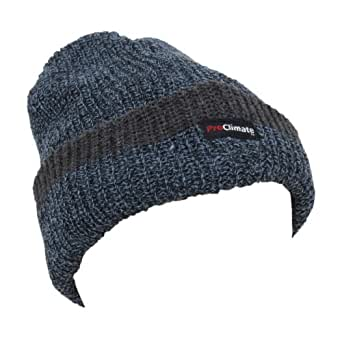 Mens Thinsulate Knitted Thermal Heavy Winter/Ski Hat (3M 40g) (One size) (Denim)