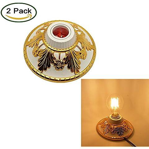 LJY 2-Pack E27 Decorative Edison vite esagonale,
