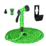 Garden Hose Pipe Set Expandable - Almondcy 50FT Magic flexible Water Hose with 7 Adjustable Spray Modes, Light Weight including 2 Water Tap Connectors and 1 Hose Hanger, Heavy Duty, 24 Hours Customer Service , 30 Days Money Back Guaranteed, 2 Years Warranty