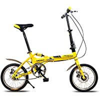XQ- F514 16 Zoll Single Speed Adult Faltrad Dämpfung Studenten Auto Kinder Fahrrad Gelb