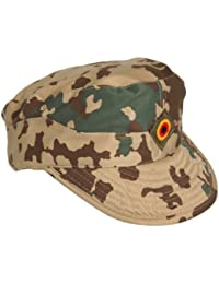 Bundeswehr Men's Combat Cap - BW Field Cap - Tropical Camo Desert Camo - UK Sizes 7 - 7 7/8 - Tropic Camo, UK 7 1/2