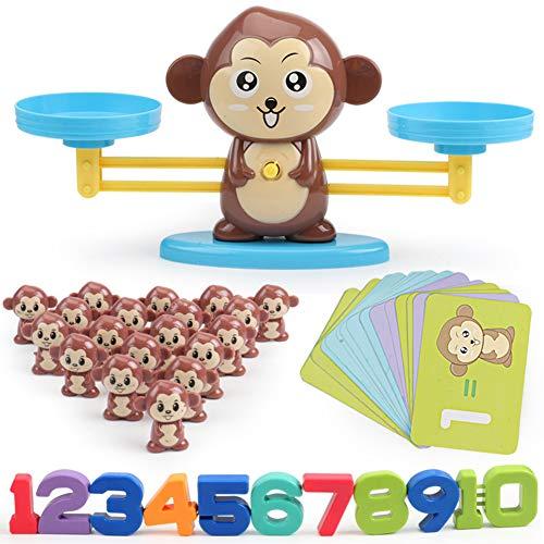 ing Scale, niedliche Cartoon-Tier-Balance-Skala Math Game Learning Kinder pädagogisches Spielzeug Monkey* ()