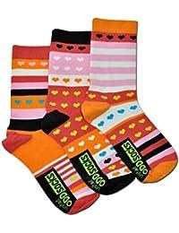 Die verrückten Hearts Herzen Socken für Mädchen im 3er Set