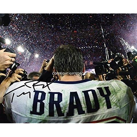Edizione limitata Tom Brady firmato foto + Cert autografo stampato Edizione Limitata