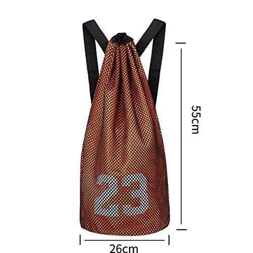 hnjzx Tasche Schultertasche Reisetasche Rucksack Gym Sack, Sport Duffle, Taschen Schule Rucksack mit großer Tasche für Jugendliche Erwachsene, Orange