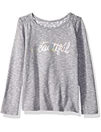 The Children's Place Baby Girls' Long Sleeve Graphic Snit Top