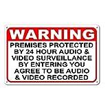 Dozili Warnvorgänge unter 24 Stunden Audio Video Überwachung Home Security Signals, Aluminium, einfarbig, 10