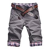 ROBO Pantaloncini Corti Uomo Bermuda Cargo Shorts Senza TasSenzai Laterali 3772a41f6fa3