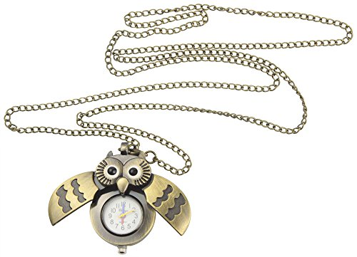 niceeshop(TM) Collar Colgante Del Búho Reloj De Bolsillo Lindo Antiguo (Bronce)