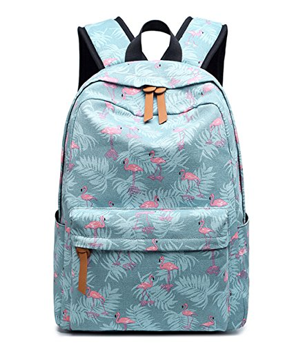 DNFC Rucksack Canvas Schulrucksack Mädchen Jungen Teenager Schulranzen Damen Freizeitrucksack Mode Kinderrucksack Daypack Backpack Schultasche (Muster 4)