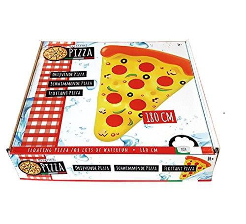 Matratze Liegematratze Pizza Kindermatratze Kinderluftmatratze Luftmatratze - ca. 180 cm ein toller Badespass / Nur für Schwimmer! Kein Schutz gegen Ertrinken! / Luftmatratze / robuste Luftmatratze - der Hingucker