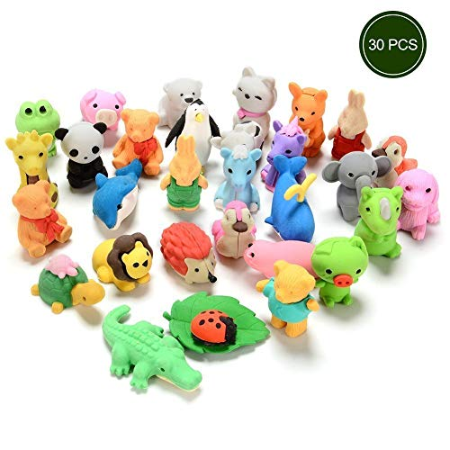 Newlly Cute Mini Puzzle Animal Pencil Eraser Toys Set for Kids - Pack of 30 Pieces