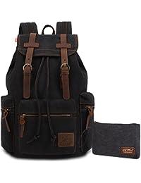 KAUKKO Mochila vintage school unisex bolsas Multifuncional bolsa de hombro Excursionismo y Viajes