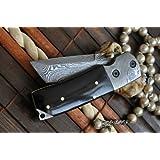 Perkin Knives Navaja de bolsillo plegable, estilo damasco