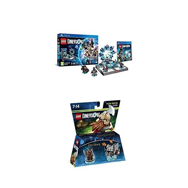 LEGO - Starter Pack Dimensions (PS4) + LEGO Dimensions - El Señor De Los Anillos, Gimli 1