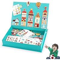 97aa4157a6 WDXIN Puzzle Bambini Magnetica Educativi Neonati e Bambine di 1-3-6 Anni  Educazione